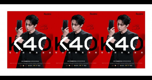 Redmi K40 Series that took teasers photos with Wan Yibo