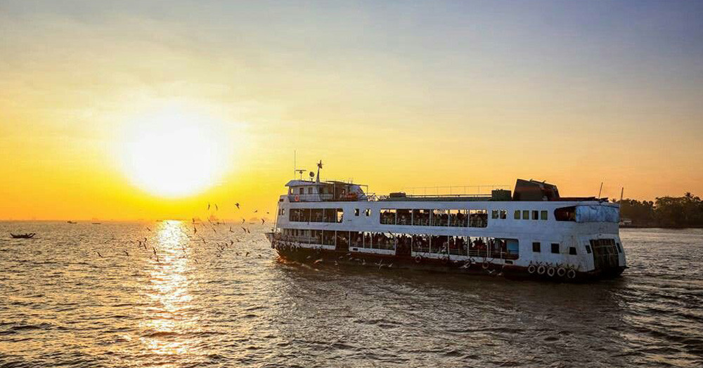 A trip on the Yangon River to get rid of stress