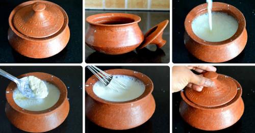 Making Pottery yogurt
