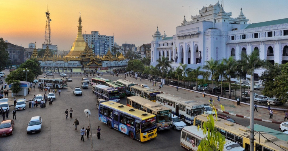 Roads in Yangon with deep historical traditions