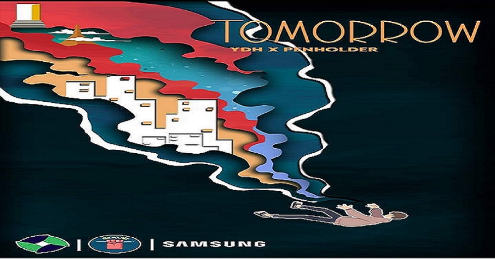 """Tomorrow"" Digital Camapign by YUECO Digital Hub and Pen Holder"