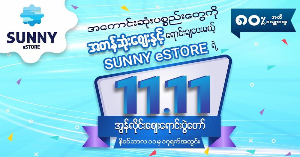 SUNNY eSTORE 11.11 online auction with up to 80% off