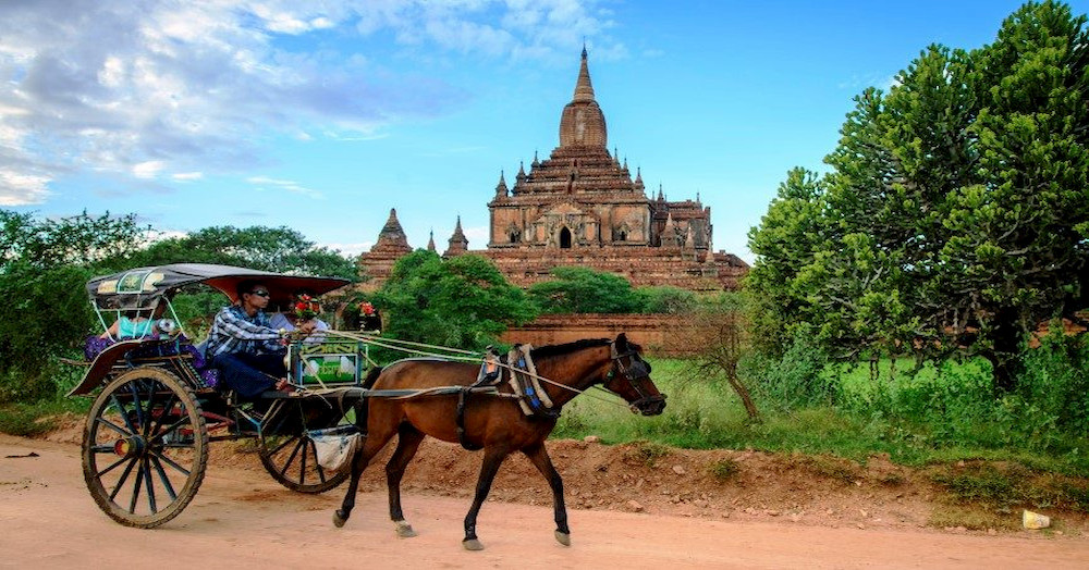 How to travel to Bagan for 1 night and 2 days with a budget of 65,000?