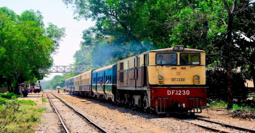 Rangoon  train service reduced further due to COVID outbreak