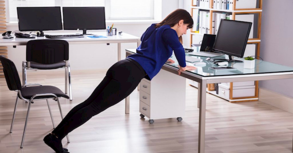 Exercises that can be easily done while working in the office